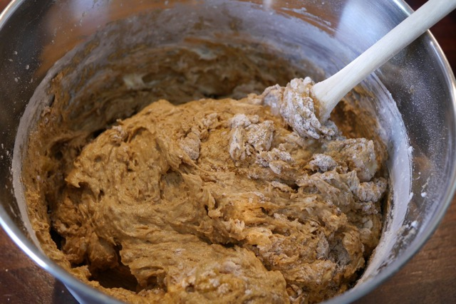 Mix quickly with wooden spoon