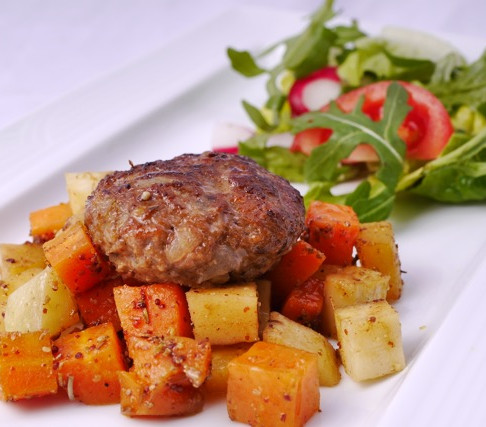 Spicy Lamb meatballs with root vegetables