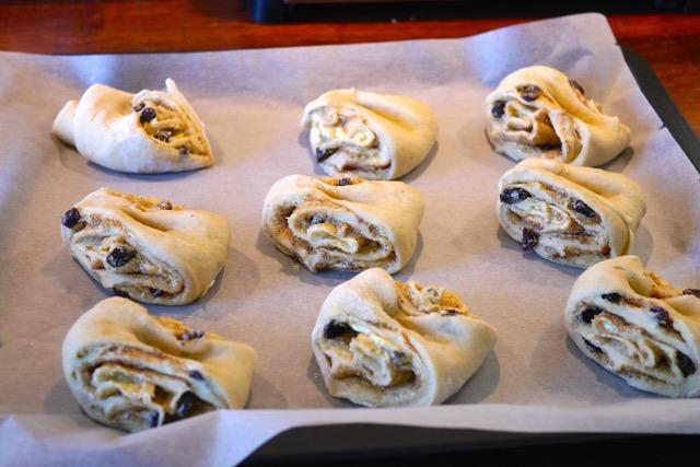 Dough on the baking sheet