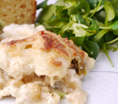 Easier than you think: fish gratin
