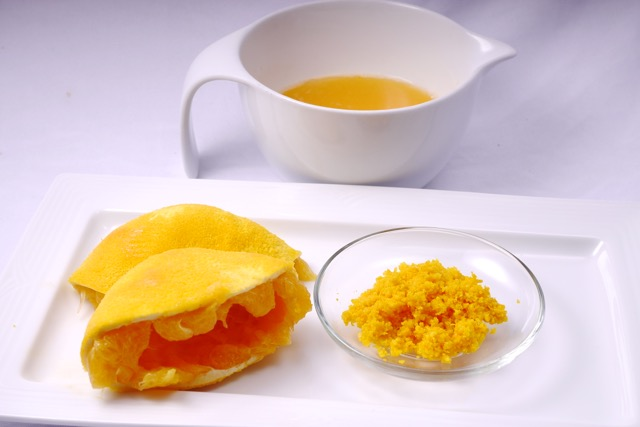 Orange zest and juice