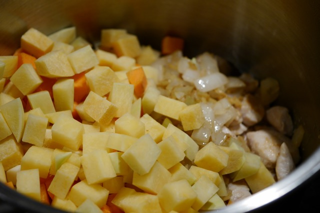Add root vegetables