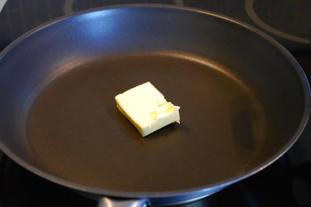 Heat up butter