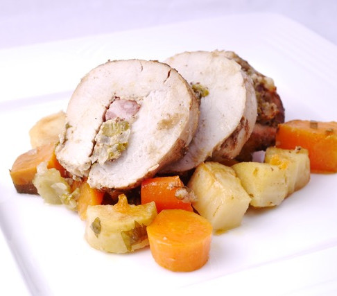 Turkey breast roll with stuffing