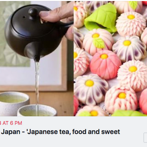 JNS event: Flavors of Japan - 'Japanese tea, food and sweet tasting'