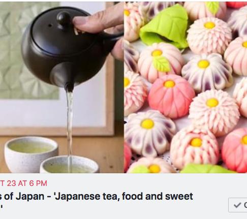 JNS event: Flavors of Japan - 'Japanese tea, food and sweet tasting'