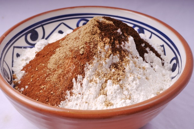 Mix dry ingredients for gingerbread cake