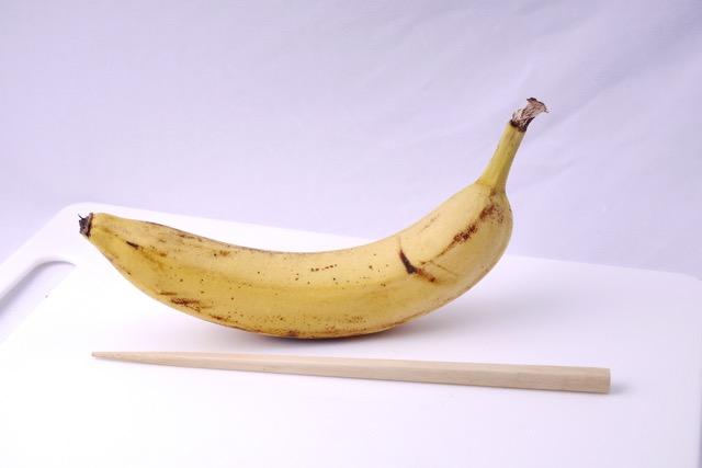 Banana with chopstick