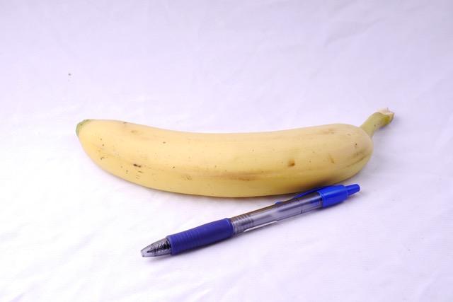 Banana and pen