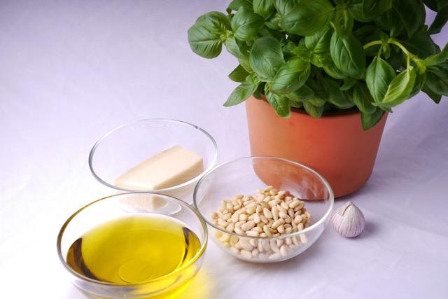 Pesto ingredients raw