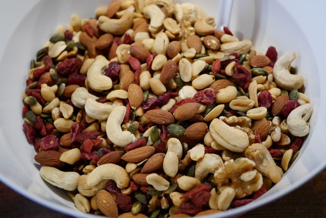 Mixed nuts in a bowl 2