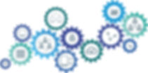 cogs plain blue colours with vector imag