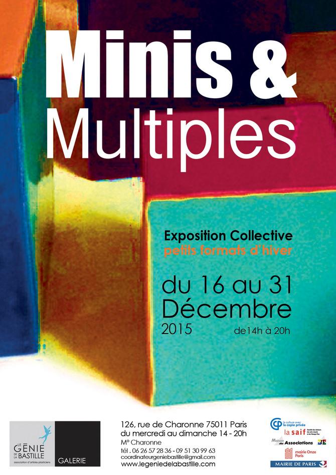 """expo collective """"petits formats d'hiver""""   le génie de la bastille"""