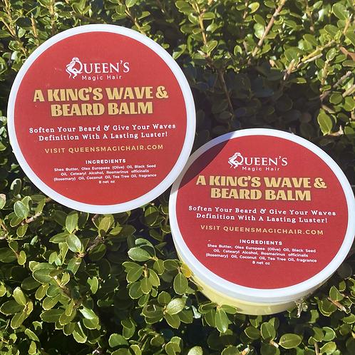 A King's Wave & Beard Balm