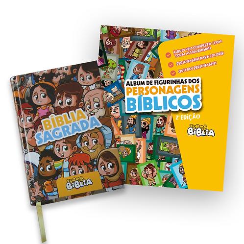KIT . Bíblia da TuRmA + Álbum de Figurinhas dos Personagens Bíblicos