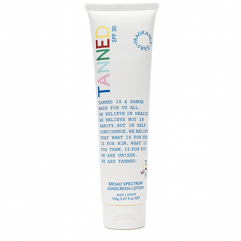 tanned broad spectrum sunscreen lotion from the beauty depot