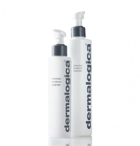 A bottle of dermalogica intensive moisture cleanser from the beauty depot