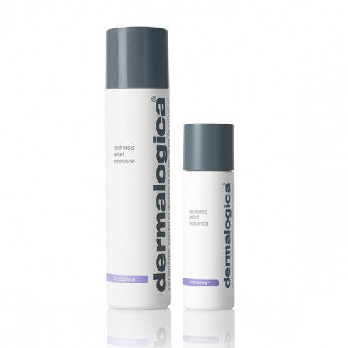 A bottle of dermalogica redness relief essence from the beauty depot