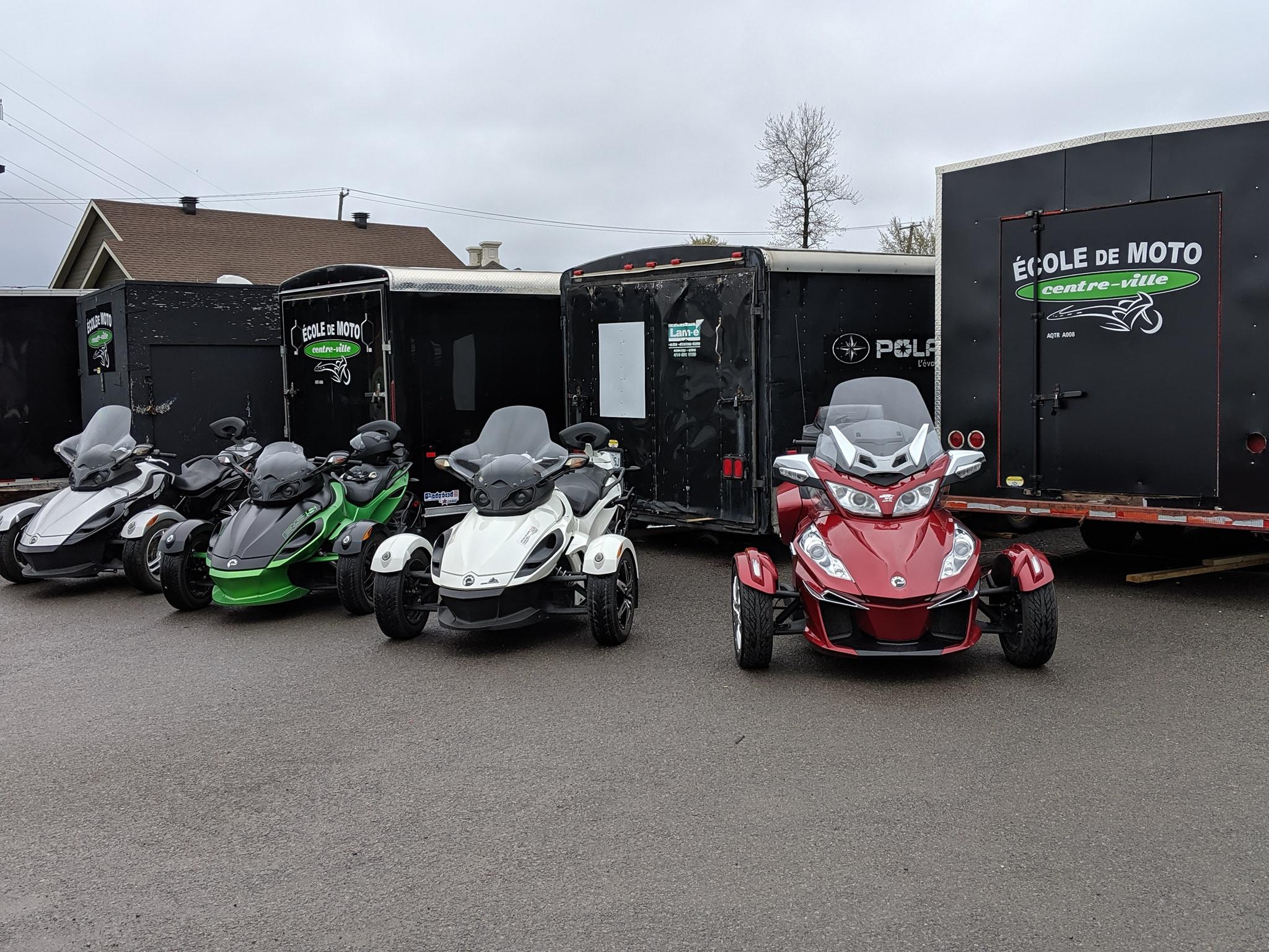 Cours de moto 3-roues