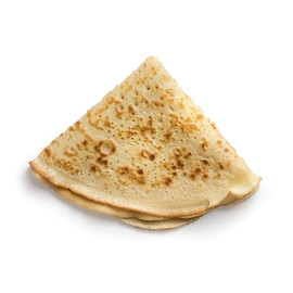 Plain Crepe waiting to be experimentented on