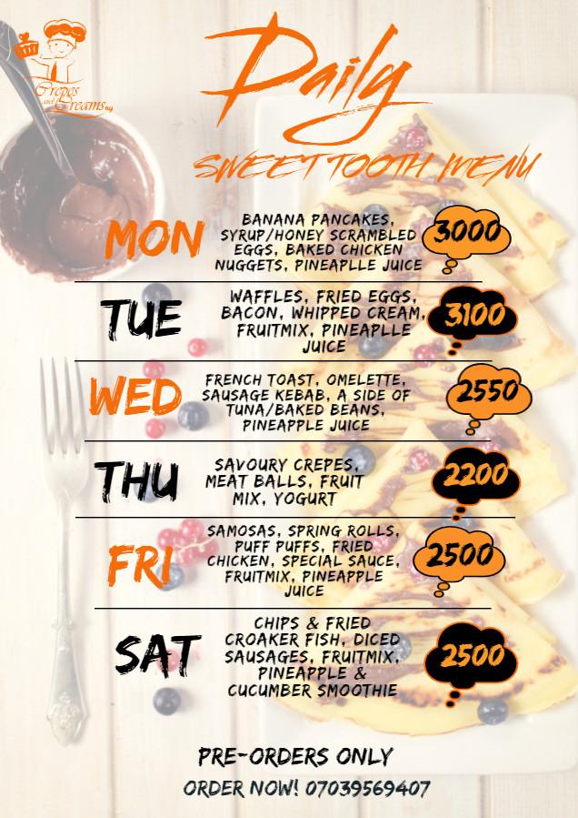 Sweettooth menu