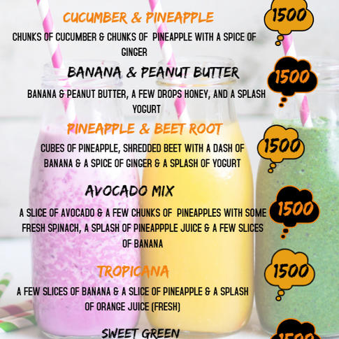 Our Special Smoothies