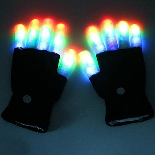 7 colors light show LED Flashing Gloves