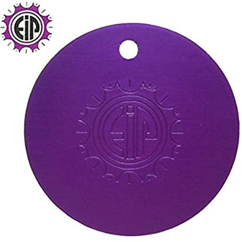 Purple Positive Tesla Plate (Oval) Pendant