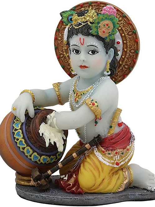 Baby Krishna stealing butter