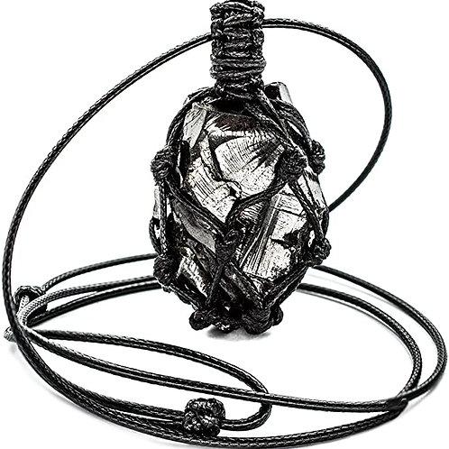 Elite Noble Shungite Pendant Crystal with Adjustable Сord (Elite Braided)