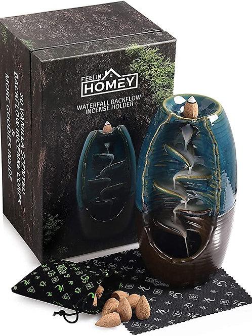 Feelin' Homey Ceramic Waterfall Backflow Incense Holder