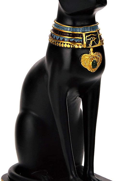 Egyptian Bastet Collectible Cat Goddess Statue - Made in Egypt (3inch)
