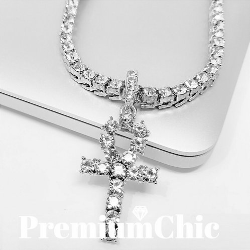 Ankh Neclace with Silver Chain