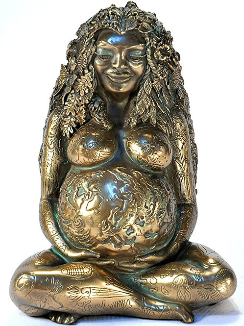 Mother Nature Gaea Bronze Statue