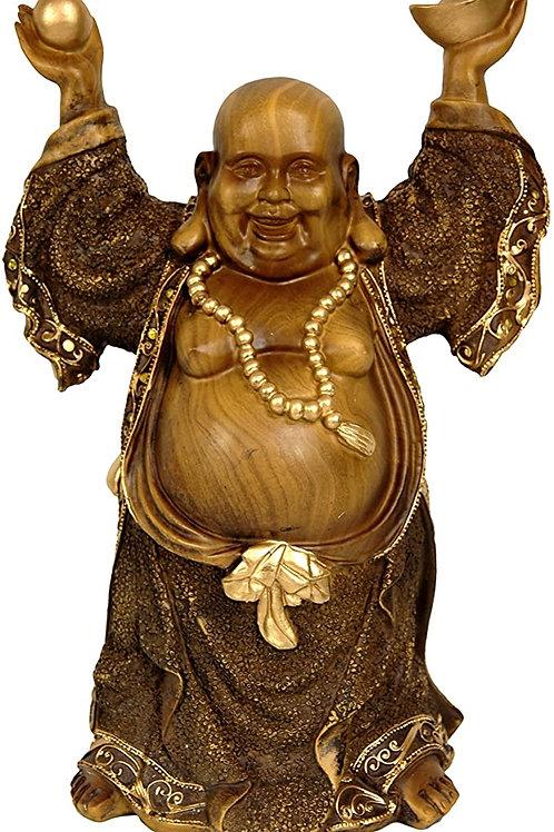 "12"" Standing Prosperity Buddha Statue"