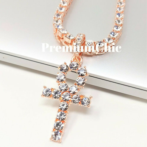 Rose Gold Ankh with Rose Gold Chain