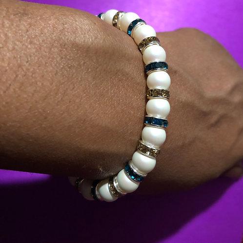 Swarovski Crystal & Pearl  bracelet by The Mystic Eye