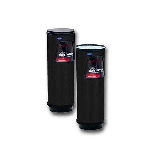 Portaextintor Cilíndrico Chico 23x68 Color negro Pintura Electrostática