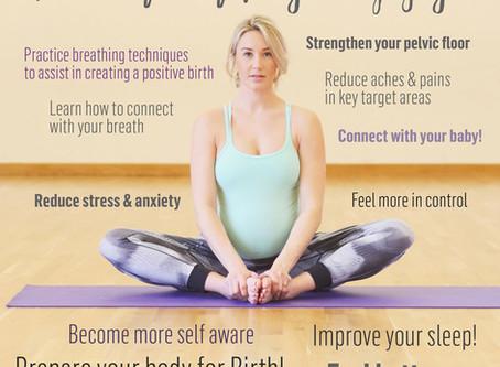Pregnancy Yoga benefits!