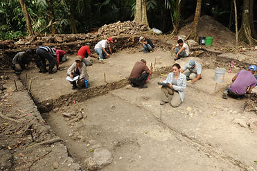Excavation of an early residential struc