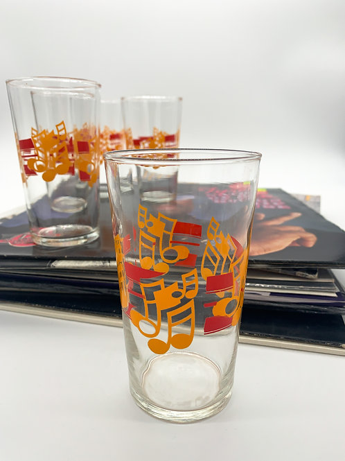 1980s Musical Note Glasses
