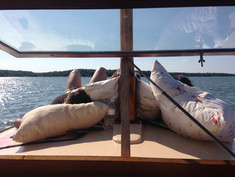 CHILLING ON THE BOW