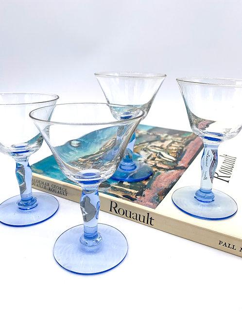 Blue Stem Sherry Glasses
