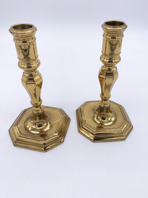 Portuguese Brass Candlesticks