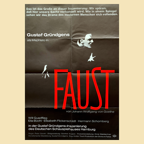 Faust (1960) Original West German Poster