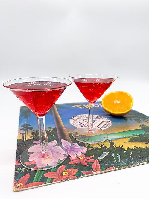 Bamboo Martini Glass Set