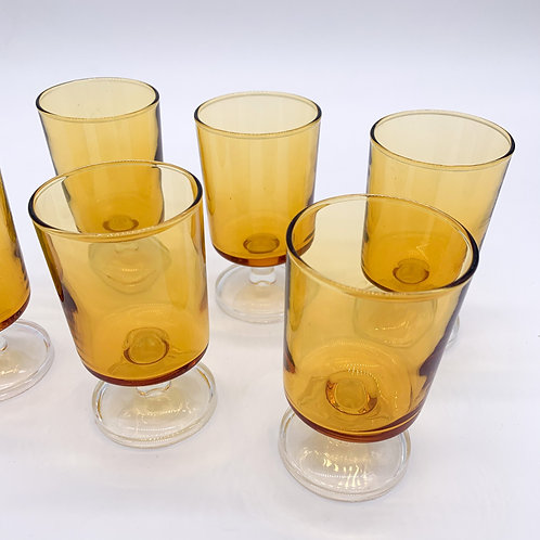 1970s French Port Glasses