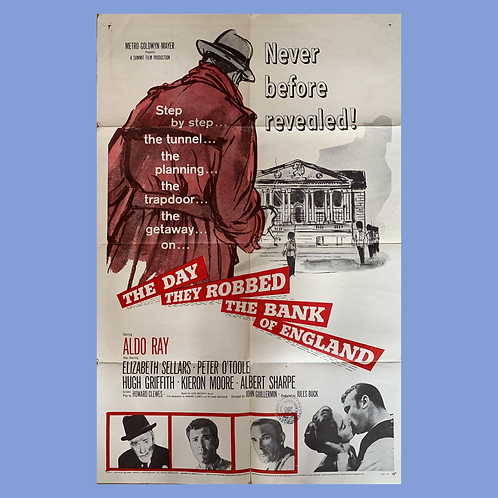 The Day They Robbed The Bank Oh England (1960) Original Poster