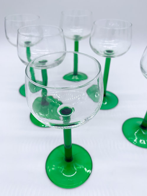 French Long Stem Wine Glasses