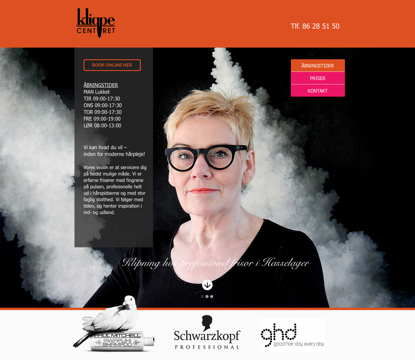 hjemmeside frisør